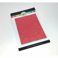Catherine Pooler Designs - Halloween - Cling Mounted Rubber Stamp - Spider Web Background