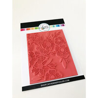 Catherine Pooler Designs - Cling Mounted Rubber Stamp Set - Climbing Flowers Background