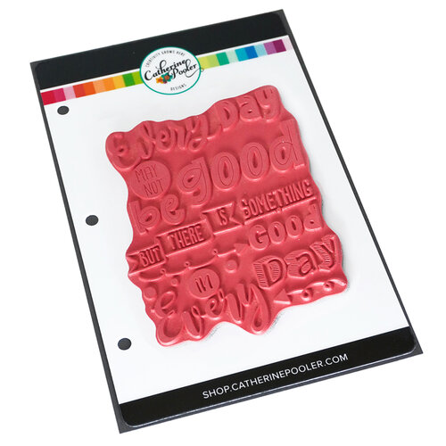 Catherine Pooler Designs - Fresh and Fruity Collection - Unmounted Cling Rubber Stamps - Good Day Background