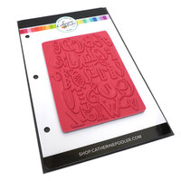 Catherine Pooler Designs - One Plus One Collection - Rubber Stamps - A to Z Background