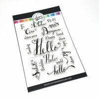 Catherine Pooler Designs - Clear Photopolymer Stamps - Hello World
