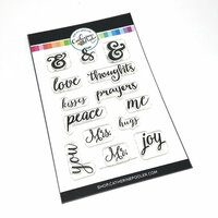 Catherine Pooler Designs - Clear Photopolymer Stamps - And Sentiments