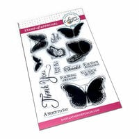 Catherine Pooler Designs - Clear Photopolymer Stamps - Butterfly Notes