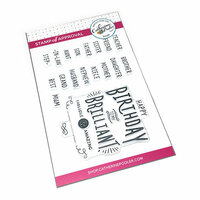 Catherine Pooler Designs - Clear Photopolymer Stamps - Fill-in-the-blank Birthday