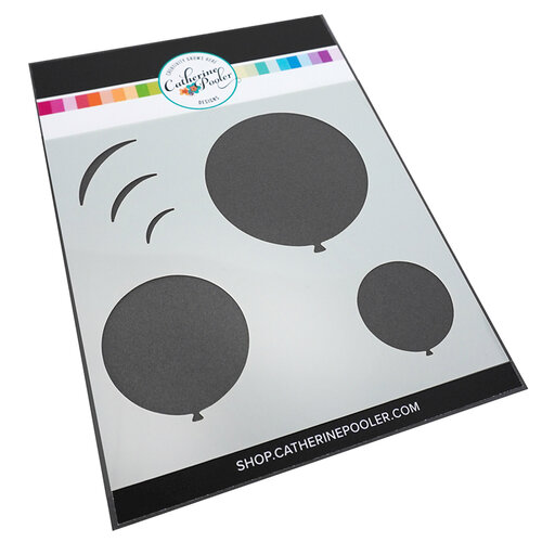 Catherine Pooler Designs - Let's Party Collection - Stencil - Round Balloon