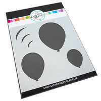 Catherine Pooler Designs - Let's Party Collection - Stencil - Oval Balloon