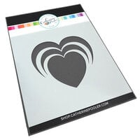 Catherine Pooler Designs - One Plus One Collection - Stencils - Radiant Heart