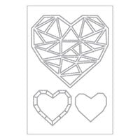 Catherine Pooler Designs - Stencils - Faceted Heart Trio