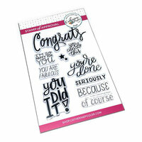 Catherine Pooler Designs - Clear Photopolymer Stamps - You did it!