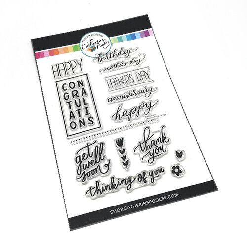 Catherine Pooler Designs - Clear Photopolymer Stamps - Simply Stated