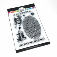 Catherine Pooler Designs - Clear Photopolymer Stamps - Chevron Cheer