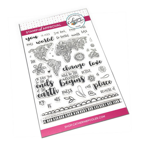Catherine Pooler Designs - Clear Photopolymer Stamps - The World Awaits