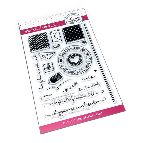Catherine Pooler Designs - Clear Photopolymer Stamps - Happiness Enclosed
