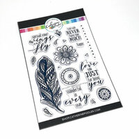 Catherine Pooler Designs - Clear Photopolymer Stamps - Zen Feather