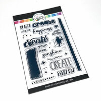Catherine Pooler Designs - Clear Photopolymer Stamps - Eat Sleep Create