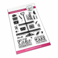 Catherine Pooler Designs - Clear Photopolymer Stamps - I Eat Cake