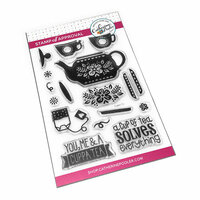 Catherine Pooler Designs - Clear Photopolymer Stamps - Cuppa Tea