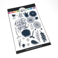 Catherine Pooler Designs - Clear Photopolymer Stamps - Focus on the Good Floral