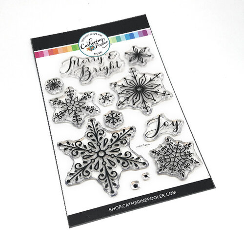 Catherine Pooler Designs - Christmas - Clear Photopolymer Stamps - Peaceful Flakes