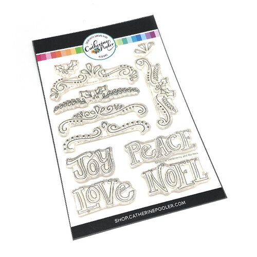 Catherine Pooler Designs - Christmas - Clear Photopolymer Stamps - Seasonal Sentiments and Borders