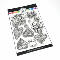 Catherine Pooler Designs - Clear Photopolymer Stamps - Doodle Hearts