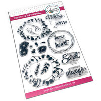 Catherine Pooler Designs - Clear Photopolymer Stamps - Sweet Home Wreath