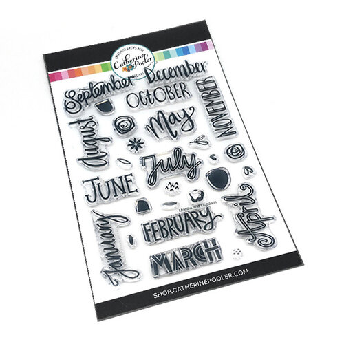 Catherine Pooler Designs - Clear Photopolymer Stamps - Months and Doodads