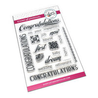 Catherine Pooler Designs - Clear Photopolymer Stamps - Congratulations Sentiments