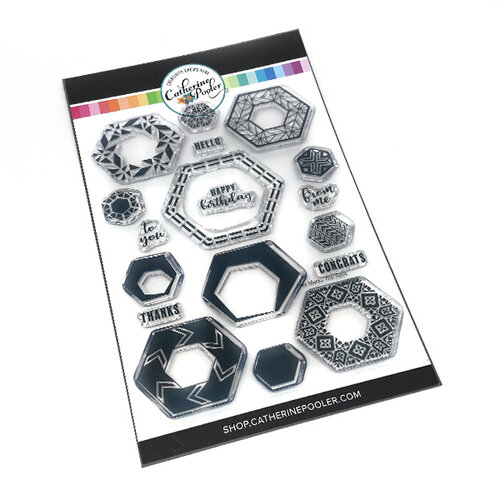 Catherine Pooler Designs - Clear Photopolymer Stamps - Hex Marks the Spot