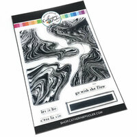 Catherine Pooler Designs - Clear Photopolymer Stamps - Marble Swirl