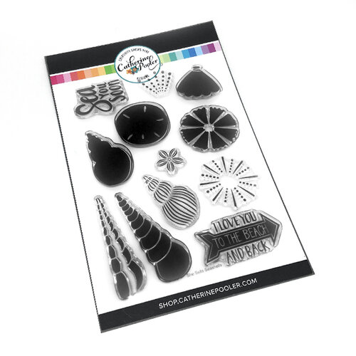 Catherine Pooler Designs - Under The Sea Collection - Clear Photopolymer Stamps - She Sells Seashells