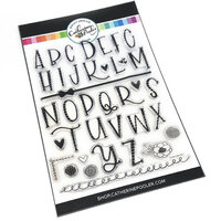 Catherine Pooler Designs - Clear Photopolymer Stamps - Funky Alphabet