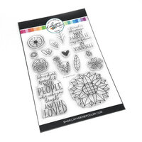 Catherine Pooler Designs - Clear Photopolymer Stamps - Sunshine Flowers