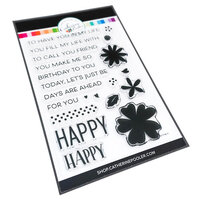 Catherine Pooler Designs - In The Kitchen Collection - Clear Photopolymer Stamps - So Happy Sentiments