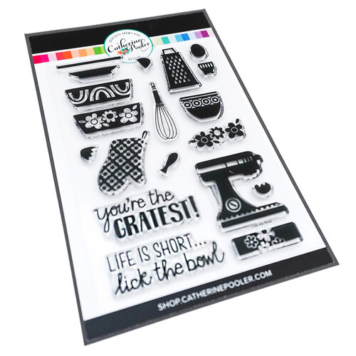 Catherine Pooler Designs - In The Kitchen Collection - Clear Photopolymer Stamps - Lick the Bowl