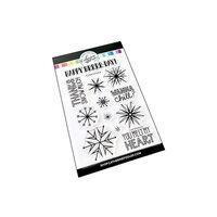 Catherine Pooler Designs - Feelin Chilly Collection - Clear Photopolymer Stamps - Chillin' Snowflakes