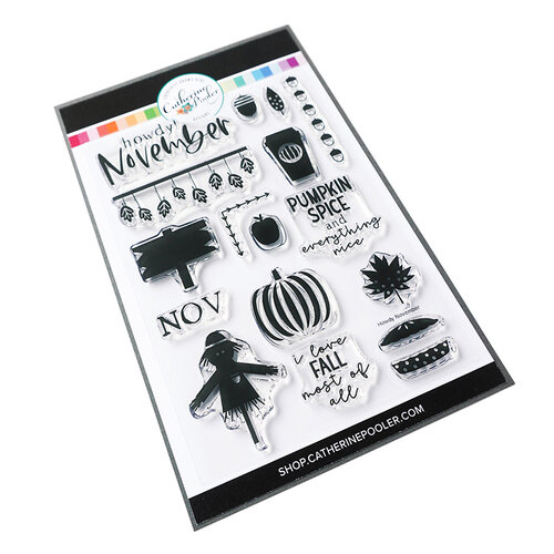 Catherine Pooler Designs - Clear Photopolymer Stamps - Howdy November