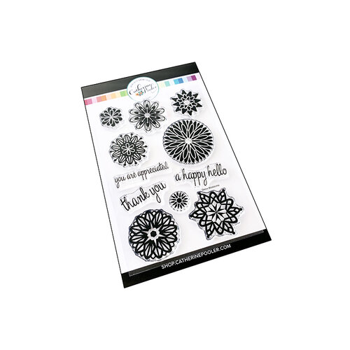Catherine Pooler Designs - Frosted Thanks Collection - Clear Photopolymer Stamps - Frosted Blossoms