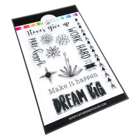 Catherine Pooler Designs - Out West Collection - Clear Photopolymer Stamps - Dream Big Sentiment