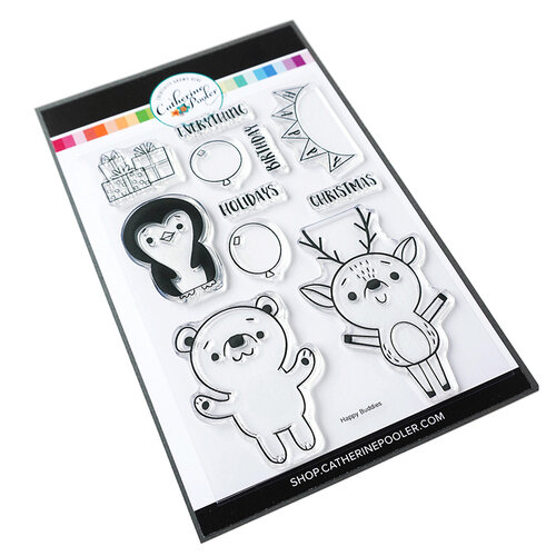 Catherine Pooler Designs - Snow Buddies Collection - Clear Photopolymer Stamps - Happy Buddies