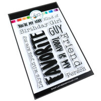 Catherine Pooler Designs - Clear Photopolymer Stamps - My Favorite Sentiments