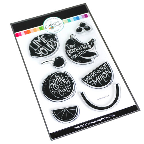Catherine Pooler Designs - Fresh and Fruity Collection - Clear Photopolymer Stamps - Sentimental Fruit