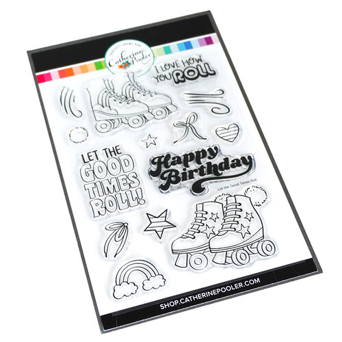 Catherine Pooler Designs - Totally Rad Collection - Clear Photopolymer Stamps - Let the Good Times Roll