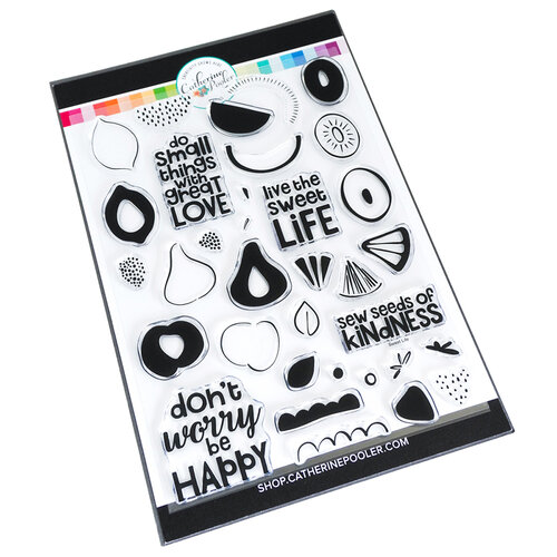 Catherine Pooler Designs - Fresh and Fruity Collection - Clear Photopolymer Stamps - Sweet Life