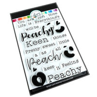Catherine Pooler Designs - Clear Photopolymer Stamps - Feeling Peachy Sentiments