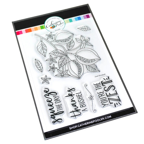 Catherine Pooler Designs - Forever 13 Collection - Clear Photopolymer Stamps - Zest Bouquet