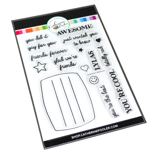 Catherine Pooler Designs - Notes and Doodles Collection - Clear Photopolymer Stamps - Composition Sentiments