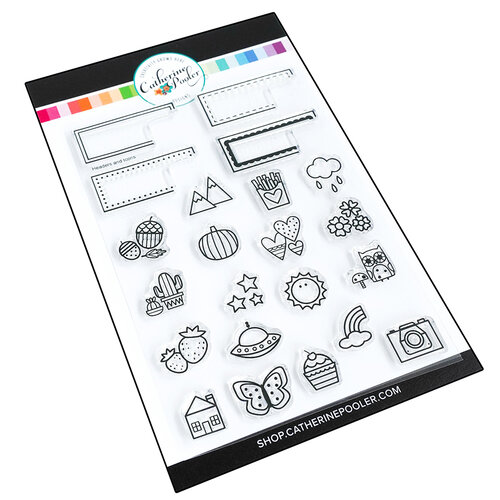 Catherine Pooler Designs - Clear Photopolymer Stamps - Canvo Headers and Icons