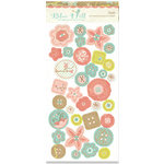 Crate Paper - Blue Hill Collection - Chipboard Buttons, CLEARANCE