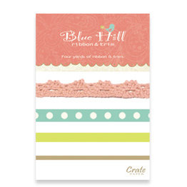 Crate Paper - Blue Hill Collection - Ribbon and Trim